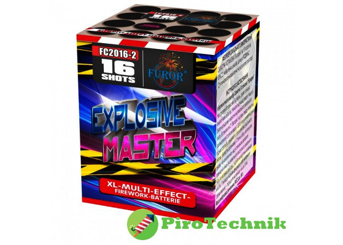 Салют Explosive Master FC2016-2, калібр 20 мм, 16 зарядів