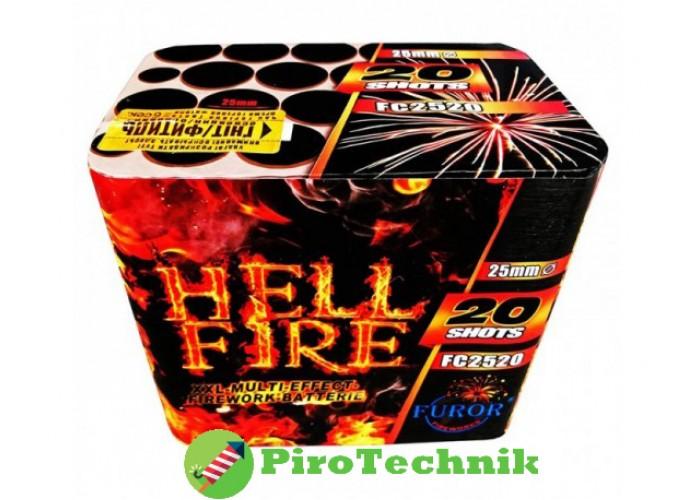 Салют Hell Fire FC2520, калібр 25мм, 20 зарядів