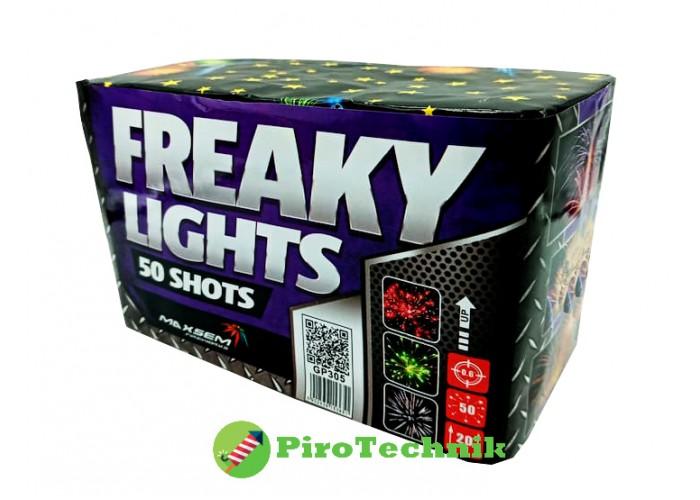 Салют Freaky Lights GP305 калібр 15мм. 50 зарядів