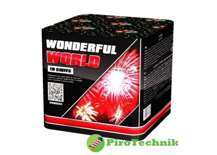 Салют Wonderful World GWM5034 калібр 30мм, 19 зарядів