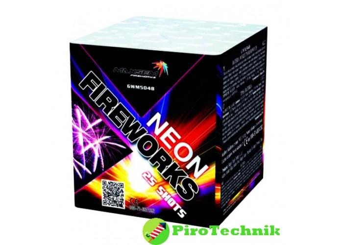 Феєрверк Neon Fireworks GWM5048 калібр 25мм, 25 зарядів