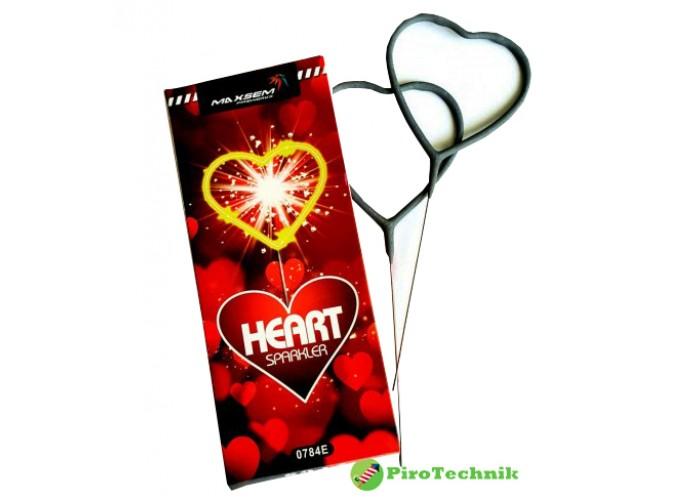 Бенгальські вогні Heart Sparkler 0784E, довжина 18 см. 2 шт